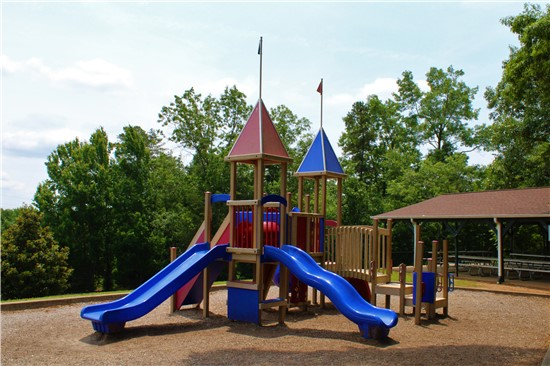 A separate section of the playground