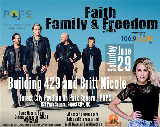 Faith, Family, and Freedom Concert Poster