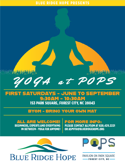 Yoga at POPS flyer